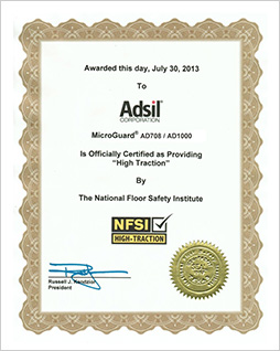 Image of the Adsil Corporation Award Certification